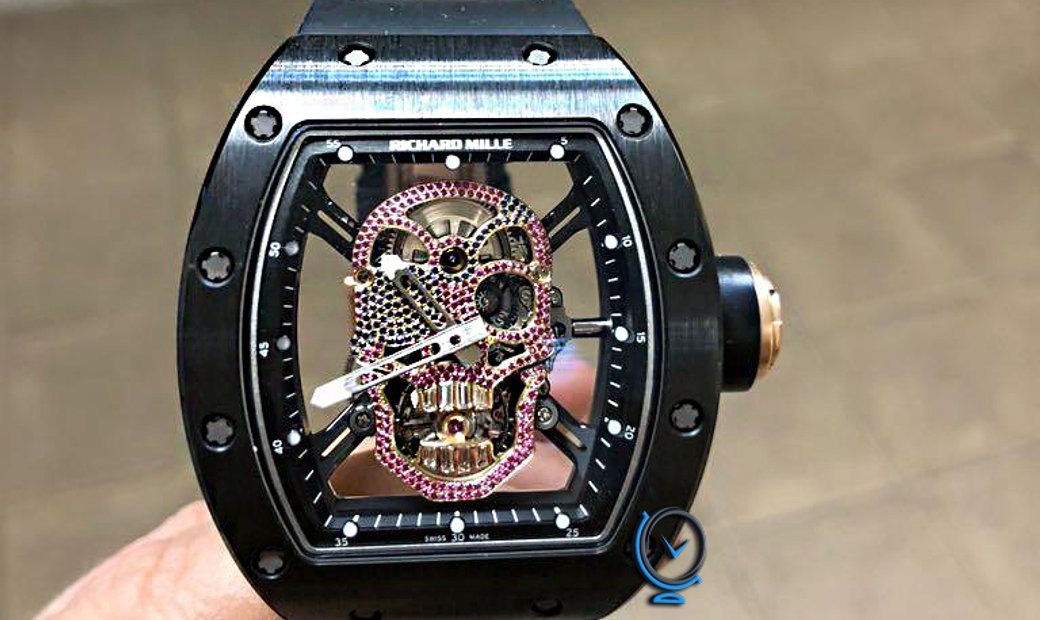 Richard Mille [2014 NEW] RM 52-01 Diamond Dial Skull Tourbillon