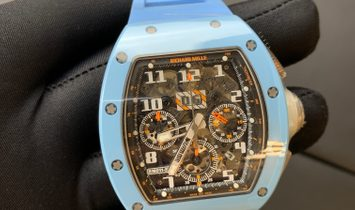 Richard Mille  RM 011 Felipe Massa Chronograph Baby Blue Ceramic Last Edition