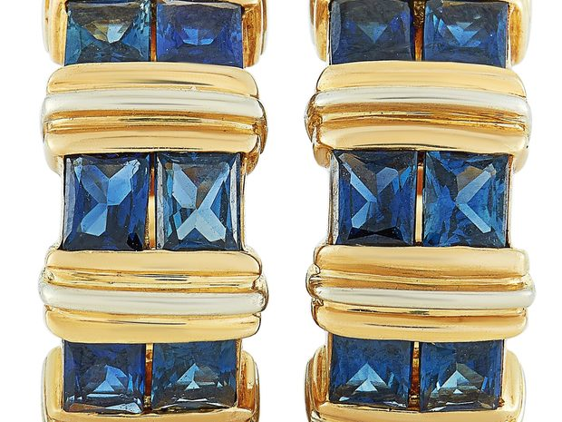Cartier Cartier 18K Yellow Gold and Sapphire Huggie Omega... (10841509)