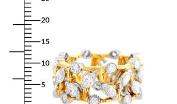 Tiffany & Co. Tiffany & Co. Schlumberger 18K Yellow Gold and Platinum ~3.00 ct Round/Marquise Diamon