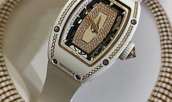 Richard Mille [NEW] RM 07-01 White Ceramic with Gemstones Ladies Watch