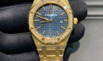 Audemars Piguet Royal Oak Quartz 67651BA.ZZ.1261BA.02 18 Ct Yellow Gold Diamond Bezel