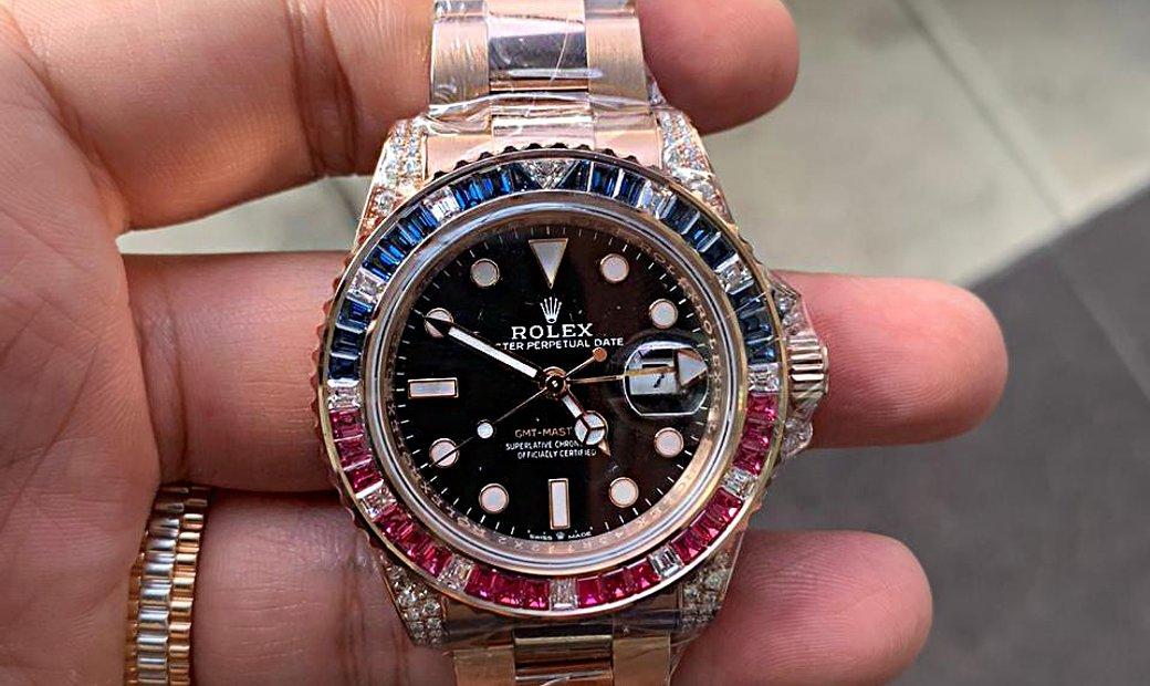Rolex [NEW] GMT-MASTER II 126755SARU Rose Gold Automatic Watch