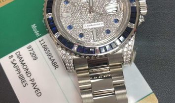 Rolex [2019 NEW] Submariner Date 116659SABR PAVE Diamond Dial White Gold Watch