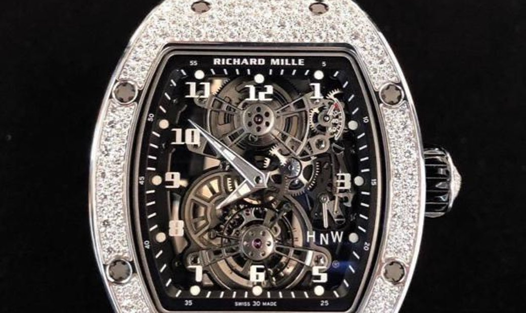 Richard Mille [NEW MODEL] RM 17-01 White Gold Full Set Diamonds Tourbillon