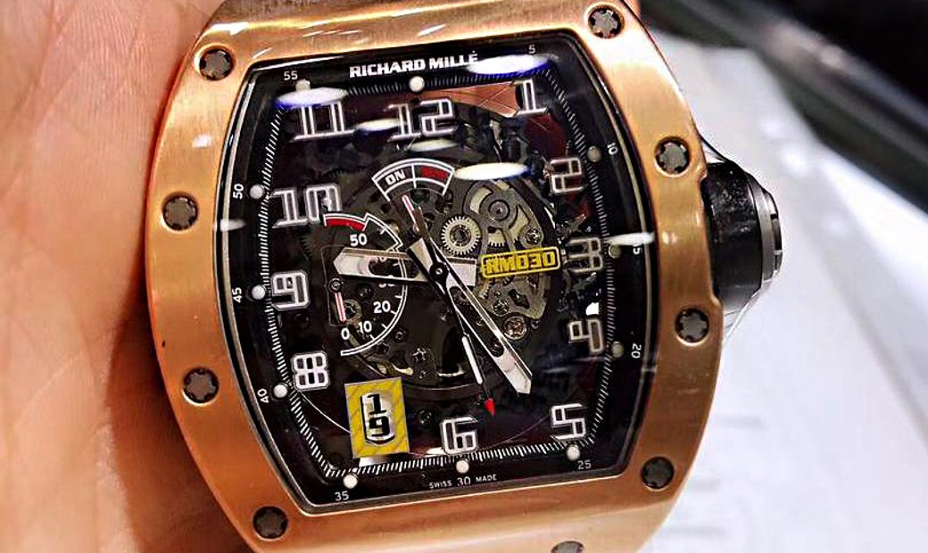 Richard Mille [2016 LIKE NEW] RM 030 Rose Gold Skeleton Dial Watch
