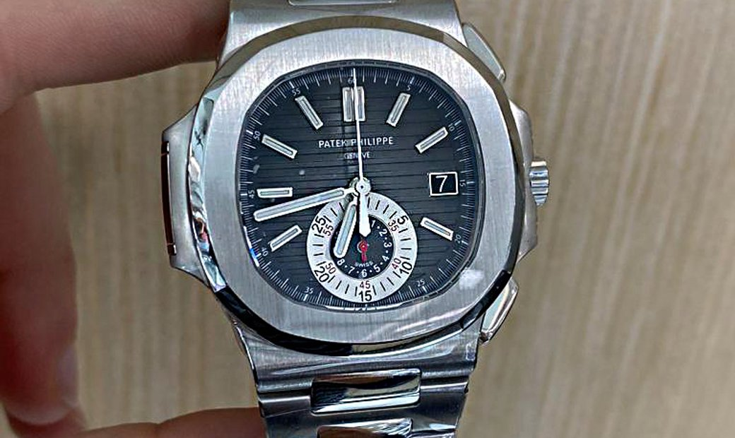 Patek Philippe [LIKE NEW] Nautilus Chronograph Black Dial 5980/1A Collectable Watch