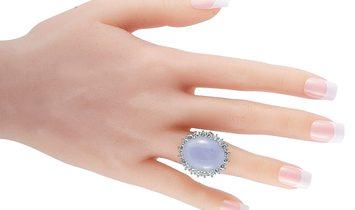 LB Exclusive LB Exclusive Platinum 3.47 ct Diamond Pave and Jade Ring