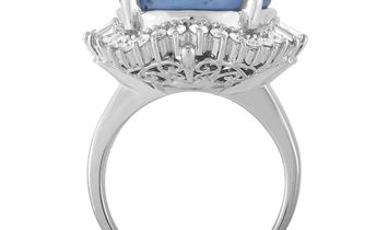 LB Exclusive LB Exclusive Platinum 0.71 ct Diamond and Sapphire Ring