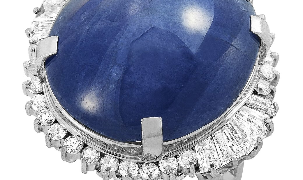 LB Exclusive LB Exclusive Platinum 1.53 ct Diamond and Sapphire Ring