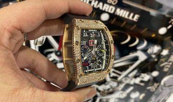 Richard Mille [LIKE NEW] RM 011 Rose Gold Pave Diamonds Watch