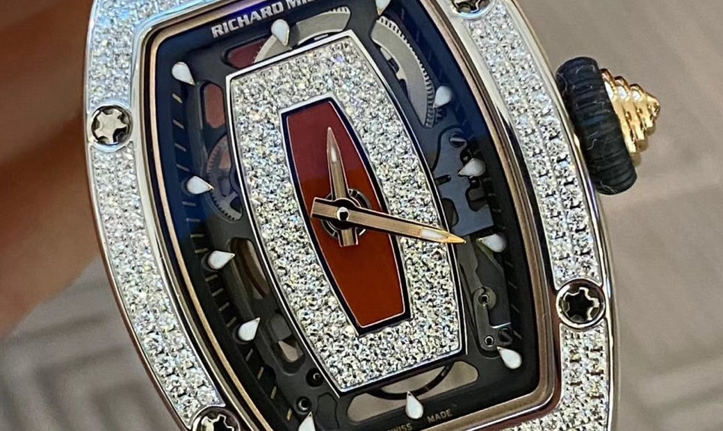 RICHARD MILLE NEW RM 07-01 WHITE GOLD LADIES FULL SET DIAMOND WATCH