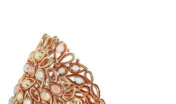 Oro Trend Oro Trend 18K Rose Gold 1.51 ct Diamond and Moonstone Bracelet