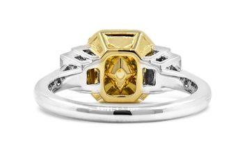 Fancy Intense Yellow Diamond Ring, 1.50 Ct. (1.97 Ct. TW), Cushion shape, GIA Certified, 7201232275