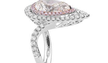 White Diamond Ring, 3.00 Ct. (3.85 Ct. TW), Princess shape, HRD Certified, 170003027667