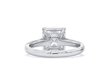 White Diamond Ring, 3.02 Ct. (3.43 Ct. TW), Radiant shape, GIA Certified, 7221841926