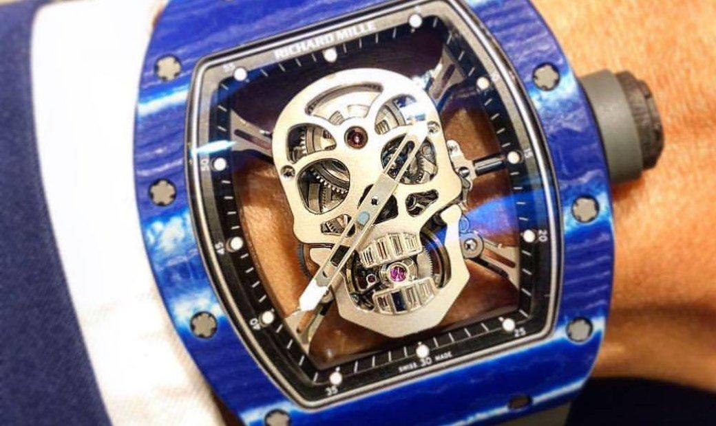 Richard Mille RM 52-01 Skull Blue Quartz TPT Tourbillon