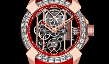 Jacob & Co. 捷克豹 NEW EPIC-X Rose Gold Baguette Bezel Red EX100.43.LD.OP.A (Retail:CHF 120'000)