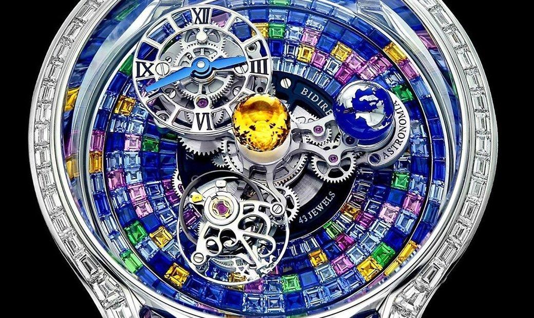Jacob & Co. 捷克豹 [NEW MODEL] Astronomia Solar Baguette Arlequino Tourbillon With Multicolour Sapphire