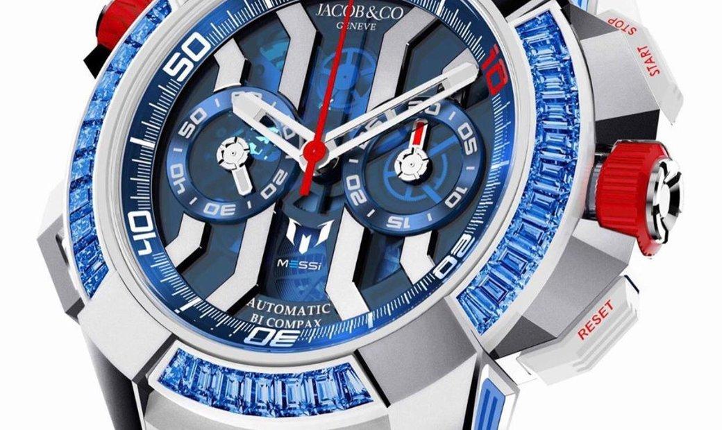 """Jacob & Co. 捷克豹 [NEW][UNIQUE] EPIC-X Chrono Baguette Messi """"Only Watch"""""""