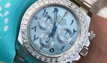 Rolex [NEW] Daytona Limited Arabic Edition Baguette Bezel Platinum 116576TBR