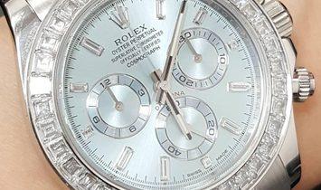 Rolex [NEW] Cosmograph Daytona Ice Blue Baguette Platinum 116576TBR