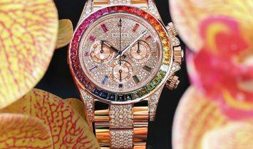 Rolex [NEW] 116595RBOW-0002 Daytona Rainbow Full Pave Diamonds Watch