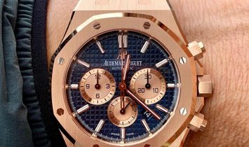 Audemars Piguet [NEW] Royal Oak Chronograph 26331OR Blue Dial Watch