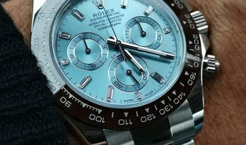 Rolex [NEW] Daytona Ice Blue Platinum Diamond 116506A