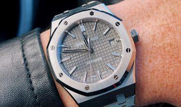 AUDEMARS PIGUET [NEW] Royal Oak 15450ST Grey Ruthenium Dial Ladies Watch