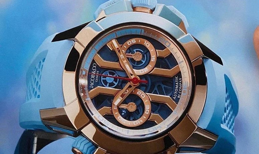 Jacob & Co. 捷克豹 [NEW MODEL] Epic X Chrono Sky Blue Limited Edition (Retail:US$48,000)