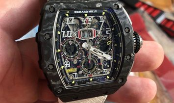Richard Mille [NEW] RM 11-03 Black Carbon NTPT Flyback Chronograph Watch