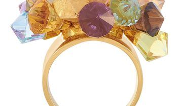LB Exclusive LB Exclusive 18K Yellow Gold Citrine, Peridot, Topaz and Amethyst Ring