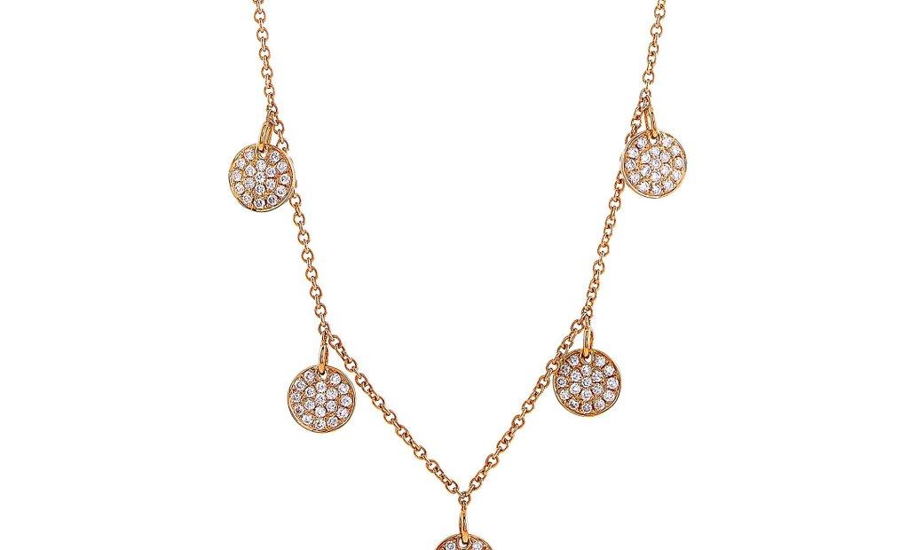 LB Exclusive LB Exclusive 18K Rose Gold 1.08 ct Diamond Necklace
