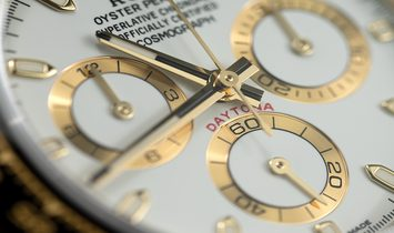 Rolex Daytona 116518LN  Yellow Gold Oysterflex White Dial