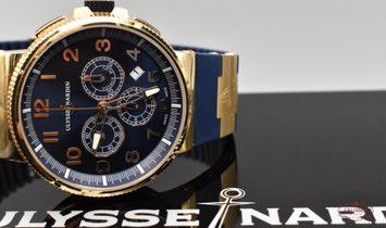 Ulysse Nardin Maxi Marine Chronograph Voyage Bleu Rose Gold