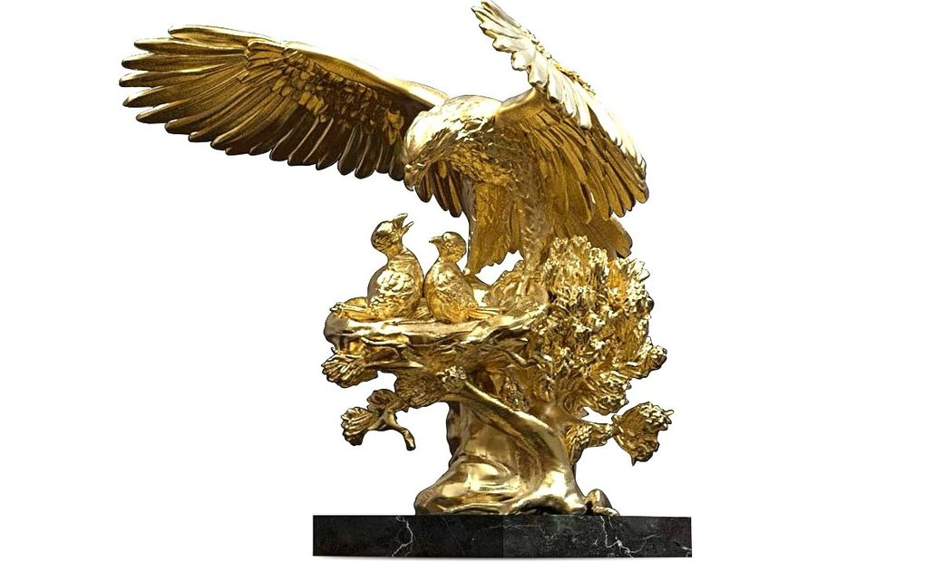 Golden Eagle Nest Sculpture ANATOLIOS