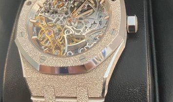 Audemars Piguet Royal Oak 15466BC.GG.1259BC.01 Double Balance Wheel Openworked in 18 CT White Gold