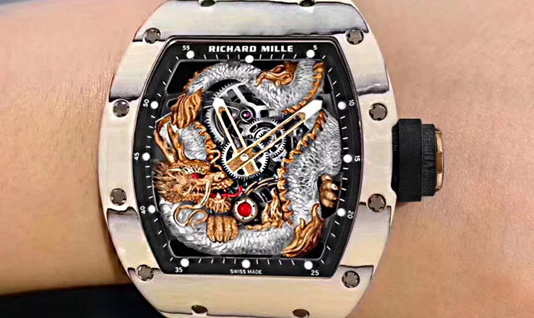 Richard Mille [NEW] RM 57-03 Tourbillon Sapphire Dragon White Carbon
