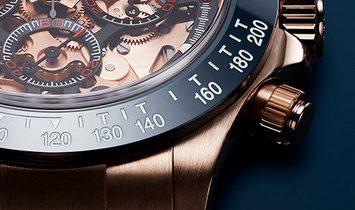 "Rolex Artisans de Genève [NEW] ""La Blausee"" Skeletonized Rose Gold Daytona"