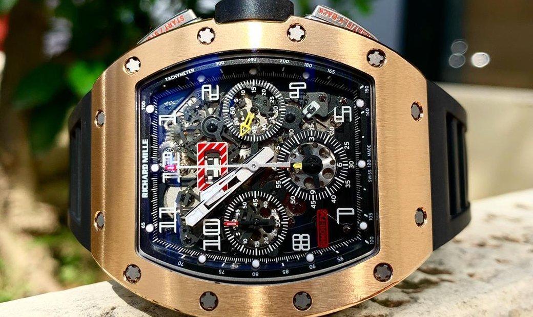 Richard Mille [2014 MINT] RM 011 Rose Gold/Titanium Automatic Watch