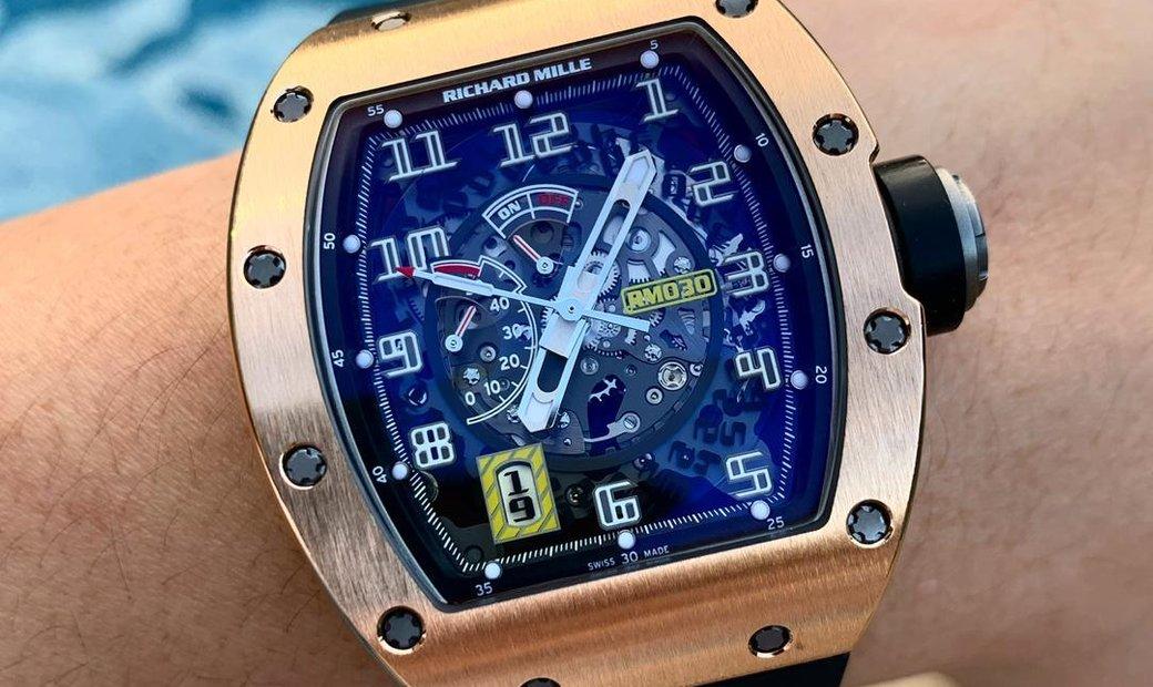 Richard Mille [2013 MINT] RM 030 Rose Gold Skeleton Dial Watch