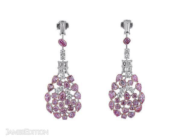Fancy Pink Diamond Earrings, 7.38 Ct. (10.78 Ct. TW), Cus... (10899085)