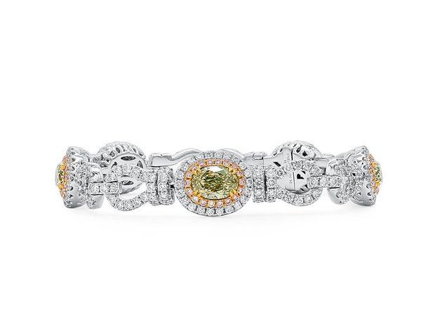 Fancy Green Yellow Diamond Bracelet, 4.50 Ct. (9.43 Ct. T... (10899086)