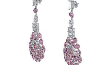 Fancy Pink Diamond Earrings, 7.38 Ct. (10.78 Ct. TW), Cushion shape, EG_Lab Certified, 5926220329