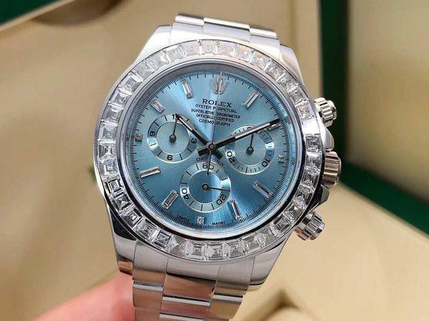 Rolex [NEW] Cosmograph Daytona Ice Blue Baguette Platinum... (10899373)