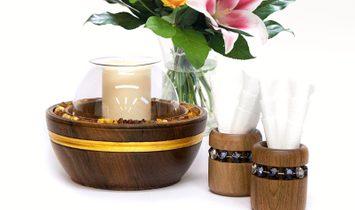 Luxury Candle Holder and Napkin Set BILLUR & AJMIA