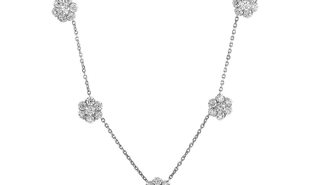 Van Cleef & Arpels Van Cleef & Arpels Fleurette 18K White Gold and 4.70 ct Diamond Necklace