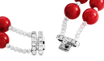 Moussaieff Moussaieff 18K White Gold 72.59 ct Diamond and Coral Necklace, Bracelet, Earrings and Rin