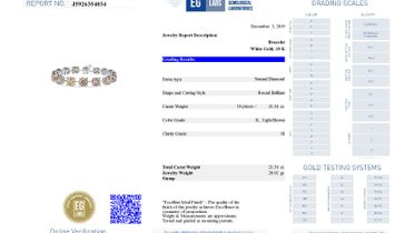Light Brown Diamond Bracelet, 21.38 Carat, Round shape